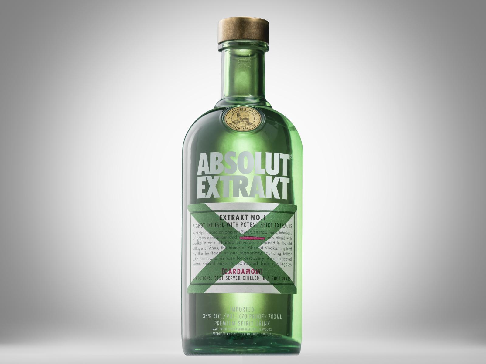 bottle of absolutt extrakt