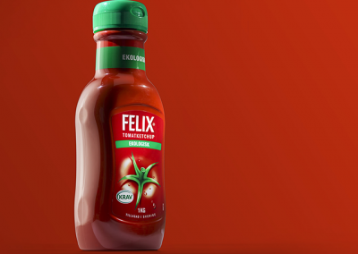 product photo of a ketchup bottle