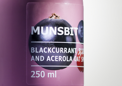 product detail of a smoothie label