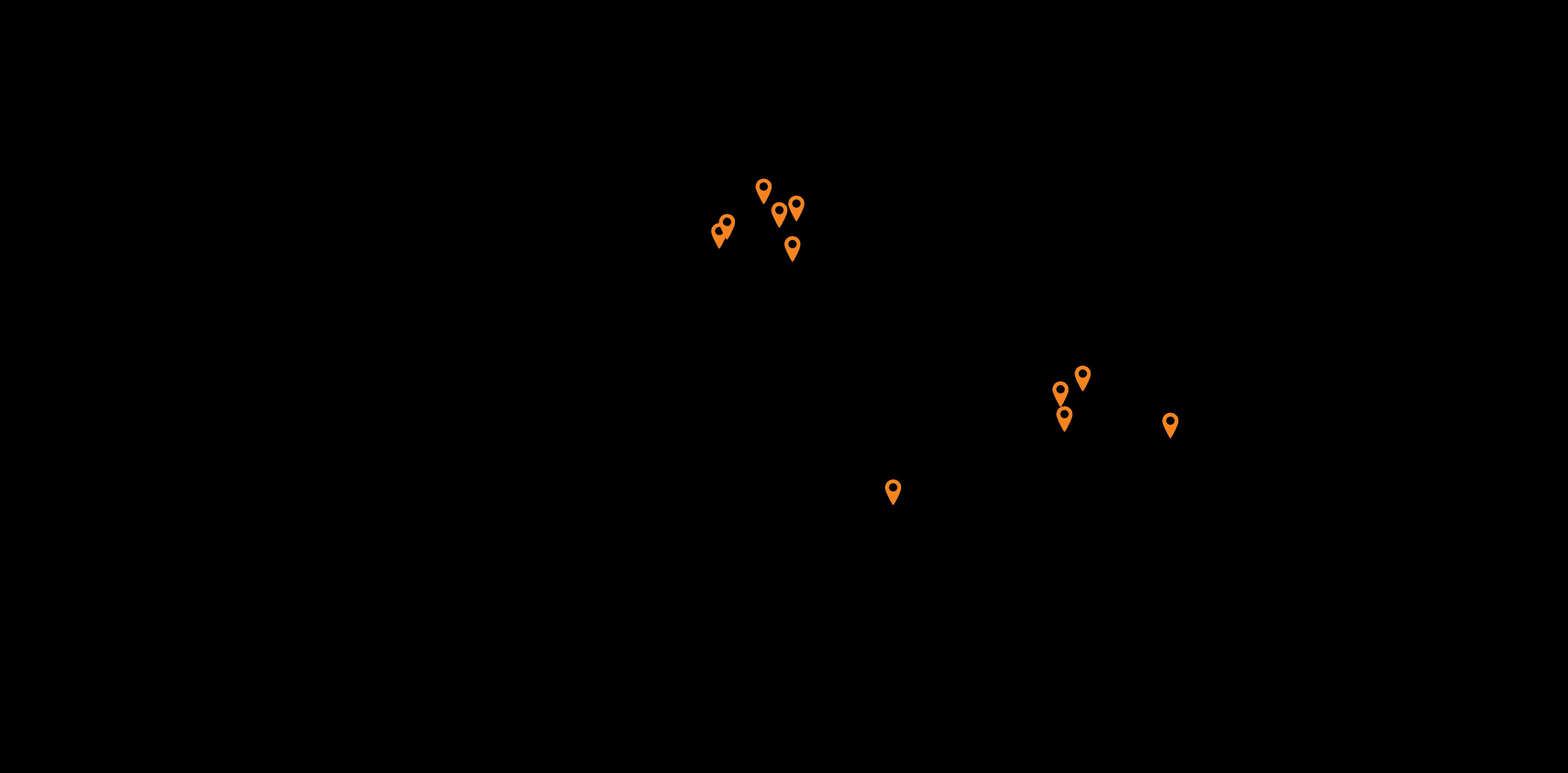 illustration skanem locations in world map
